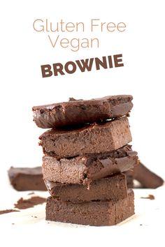 Gluten Free Vegan Brownie | minimaleats.com #vegan #glutenfree #brownie