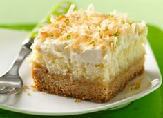 """Lime in the Coconut"" Cheesecake Bars"