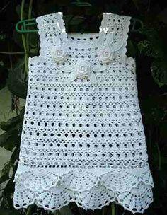 Tejido A Crochet Para Bebe Artesanum Com Vestido Pelautscom