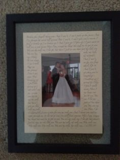 First dance lyrics w/ picture.