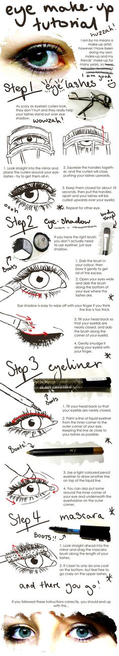 eye make up tutorial.  Gosh I need this.