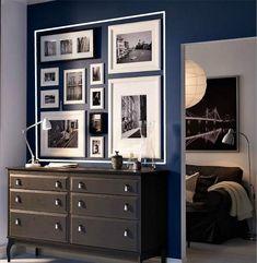 decor, interior, idea, collag, galleri wall, hous, picture frames, ikea, frame walls