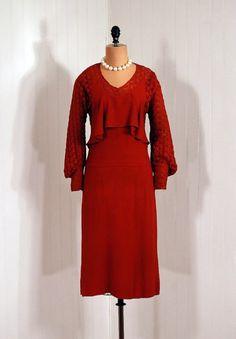 1920s crepe rayon dress