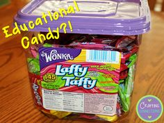 A blog post about using Laffy Taffy as an educational activity in your classroom!