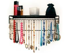 necklace storage, idea, dorm room, accessori, shelves, organizers, necklaces, jewelry holder, jewelri organ