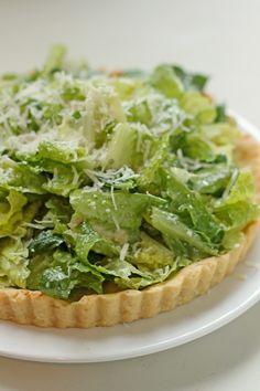 Caesar Salad with Sweet Garlic Butter Tart Crust