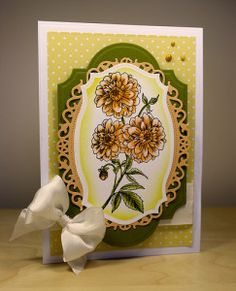 International Flair designer, Cathy Andronicou, dandelion labels card