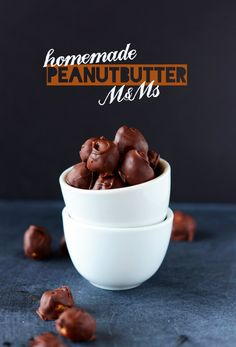 Homemade Peanut Butter M&Ms! #vegan #glutenfree