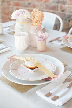Pastel table setting. French inspired wedding