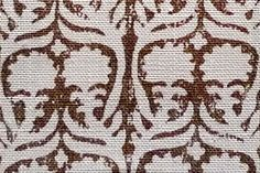Ashok in Chocolate | Penny Morrison Fabrics #textiles #fabric #linen #floral #brown