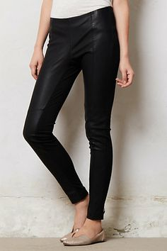 Vera Vegan Leather Leggings #anthropologie $88