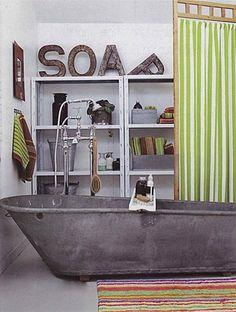 zinc tub...i want one!!
