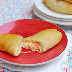 Turkey and Cheese Pockets made with crescent roll dough