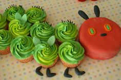 Coco Cake Cupcakes--Vancouver BC by Lyndsay Sung: The Hungry Caterpillar Cupcake Party Train!