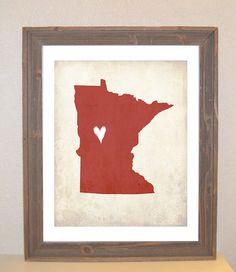 Minnesota Love print