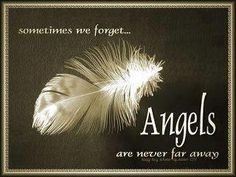 Sometimes we forget... Angels are never far away.