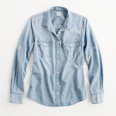 Factory classic chambray shirt