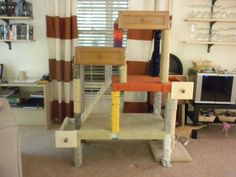 Cat Tree using tables & drawers