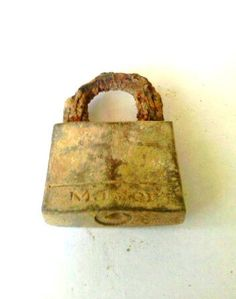 Lock It Up Old Rusty Vintage Pad Lock by Wildorchidss on Etsy, $5.25