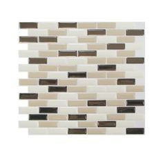 Smart Tiles 9.13 in. x 10.25 in. Peel and Stick Murano Dune Mosaik (1-Piece)-SM1035-1 at The Home Depot