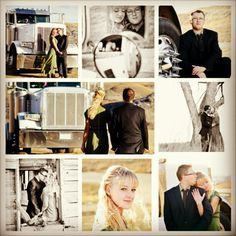 Semi truck wedding photo's
