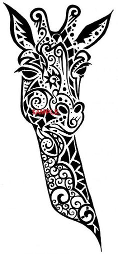 Tribal Giraffe Head Cross Stitch Chart is now available at www.crossstitchchartheaven.co.uk