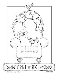 rest in the lord coloring page