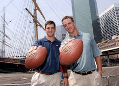 Two of the very finest!  The Brothers Manning, Eli and Peyton
