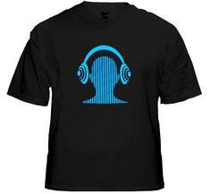 Digital Headphone Sound Responsive Equalizer Rave T-Shirt With Sound Sensor. Price $24.99