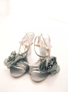 gray wedding sandals // photo by Gabe Aceves