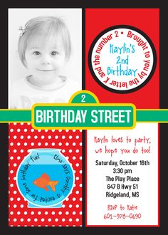 ELMO Birthday Party Invitation