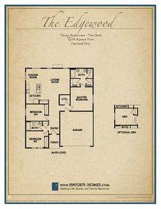 Space to live by hayden homes on pinterest home floor for Hayden homes floor plans