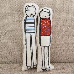 Iron Craft '13 #13 - Little Us Pillow Dolls by katbaro, via Flickr