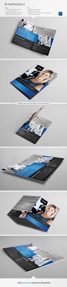 Brochure template #design | Find out more on my Behance - http://www.behance.net/gallery/Bi-Fold-Brochure-2/10623637
