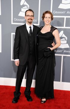 Daniel Shores and guest arrive at the 55th Annual GRAMMY Awards  Both of them look really good