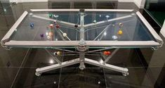The Glass G-1 Pool Table Takes Luxury to the Next Level of Fun #design trendhunter.com