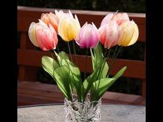 DIY How to Make Nylon Tulips - Nylon flower tutorial