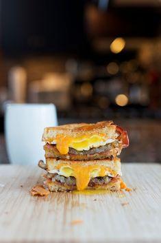 The Breakfast Grilled Cheese   bsinthekitchen.com #grilledcheese #breakfast #bsinthekitchen