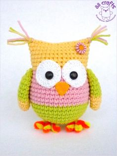Amigurumi Owl  - Free Russian Pattern - http://88crafts.blogspot.ru/2014/01/color-owl.html