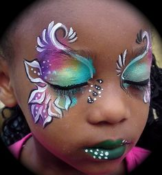 rainbow color face paint