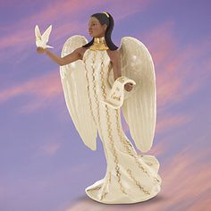 Lenox African American Arjana Angel Of Paradise Figurine Dove Heaven Sent NEW | eBay
