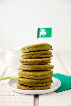 Green+Vegan+Pancakes+on+Weelicious