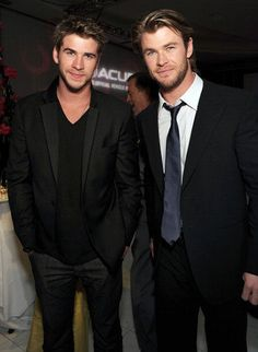 Celebrity Siblings Liam and Chris Hemsworth