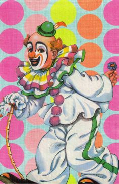 clown with cane
