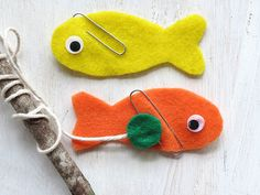 Magnet fishing game out of felt. =)