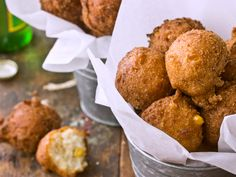 Creamy Corn Hush Puppies from Southern food blogger @Dixie Caviar
