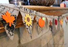 easi diy, burlap garland, diy crafts, fall crafts, fall burlap