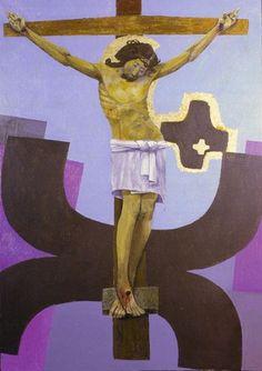 Jésus en croix---Arcabas