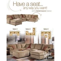 Ashley furn on pinterest loveseats furniture and for Bartlett caramel left corner chaise sectional