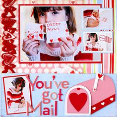 Paper-Piece Embellishments for Valentine's Day Scrapbook Pages